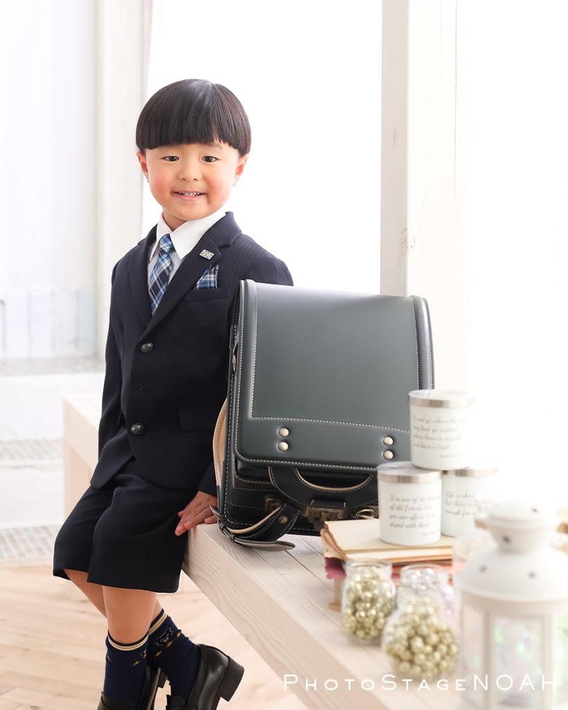 入学記念の男の子のお写真